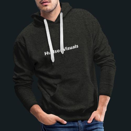 HudsonVisuals Wolf (Logo on back *Blue*) - Männer Premium Hoodie