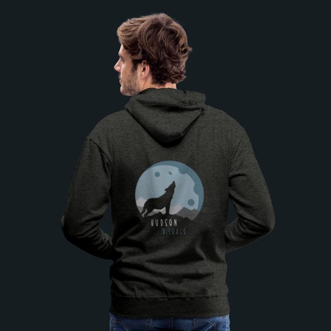 HudsonVisuals Wolf (Logo on back *Blue*)