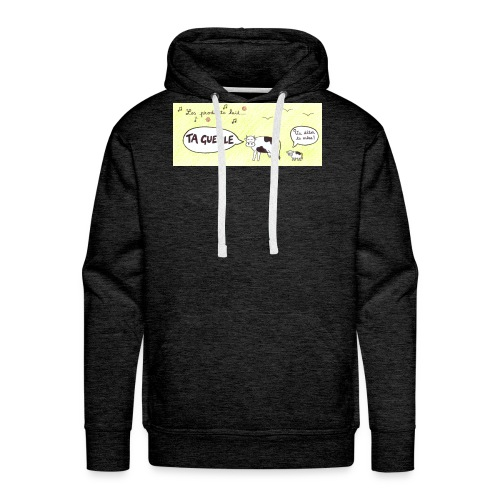 Vache pas laitière - Sweat-shirt à capuche Premium pour hommes