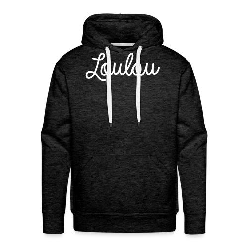Logo-Wit - Mannen Premium hoodie