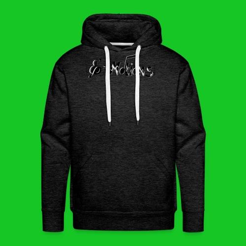 Muziek emoties transparant - Mannen Premium hoodie