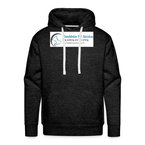 Logo Side by Side With www - Men's Premium Hoodie