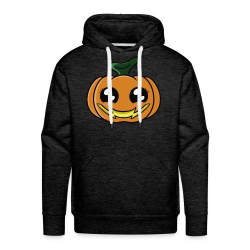 Citrouille d'Halloween Kawaii ! - Sweat-shirt à capuche Premium pour hommes