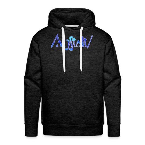 /'angstalt/ logo gerastert (blau/weiss) - Männer Premium Hoodie