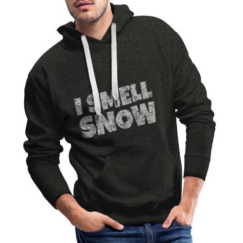 I Smell Snow (Grau) Schnee, Winter, Wintersport - Männer Premium Hoodie