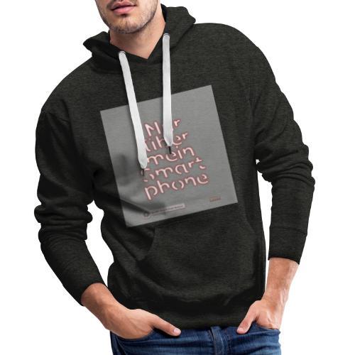 Design Nur ueber mein Smartphone 4x4 - Männer Premium Hoodie