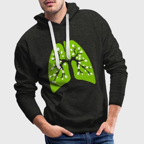 Poumon vert - Sweat-shirt à capuche Premium pour hommes