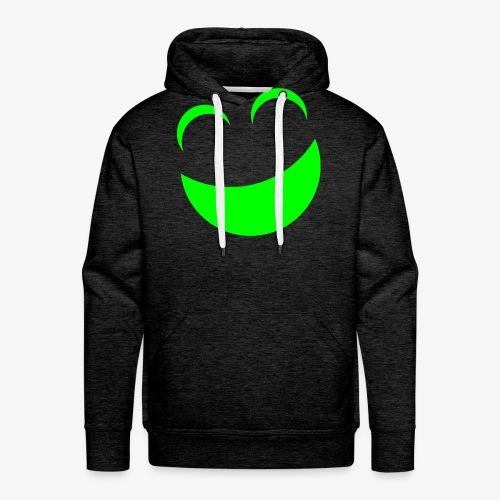 sonrrisa verde - Sudadera con capucha premium para hombre