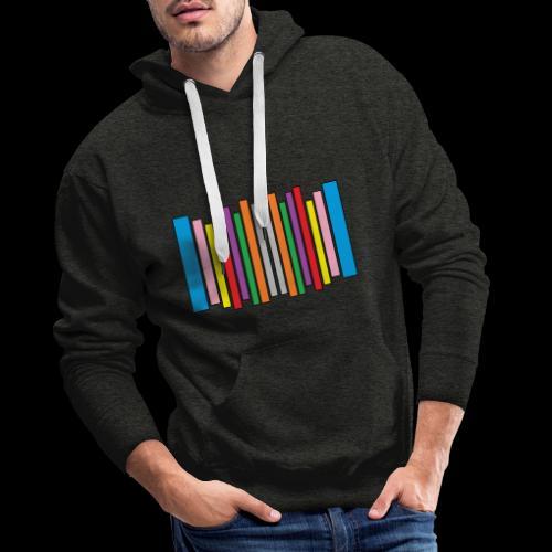 No Judgement Colour Bar - Men's Premium Hoodie