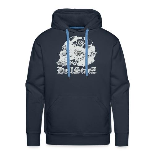 HELLSTARZ Skull Logo - Sweat-shirt à capuche Premium pour hommes