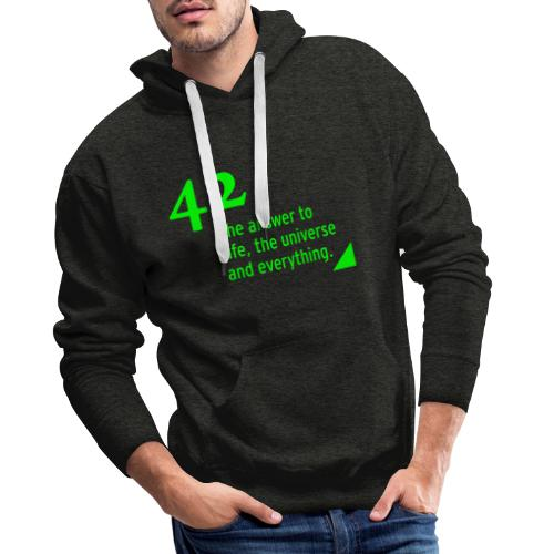 42 - the answer to life, the universe & everything - Männer Premium Hoodie