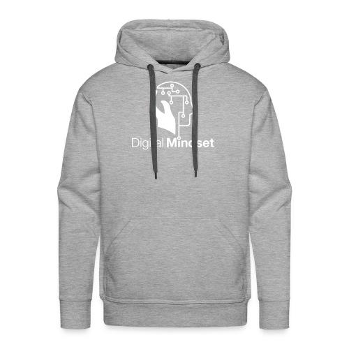 Digital Mindset Logo Weiß - Männer Premium Hoodie