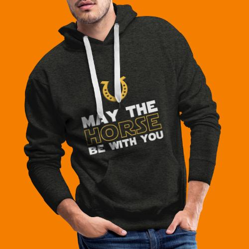 May the horse be with you - Premiumluvtröja herr