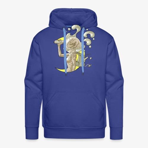 moon space drink cosmonaut girl - Sweat-shirt à capuche Premium pour hommes