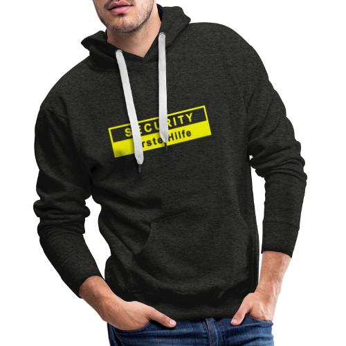 Security & Erste Hilfe, gelb - Männer Premium Hoodie