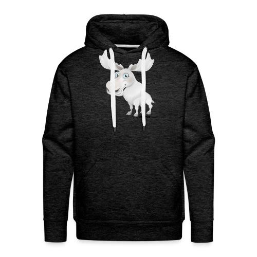 Albino elg - Herre Premium hættetrøje