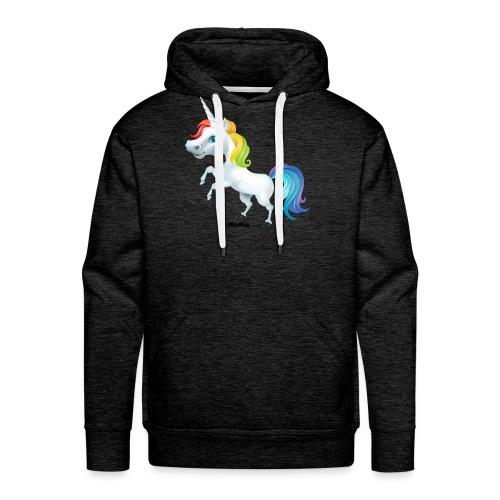 Regenboog eenhoorn - Mannen Premium hoodie