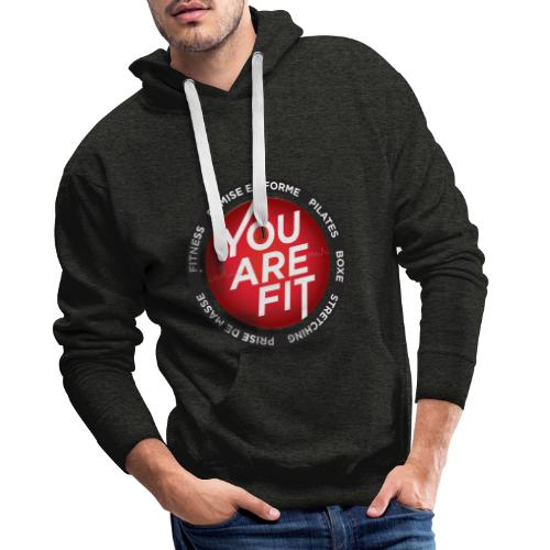 You Are Fit® Sportswear Design - Sweat-shirt à capuche Premium pour hommes