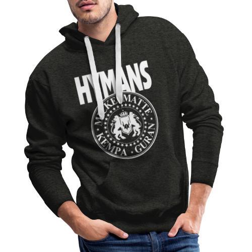 Hymans White classic logo print - Premiumluvtröja herr