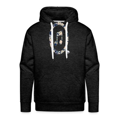 MusicFlower - Sudadera con capucha premium para hombre