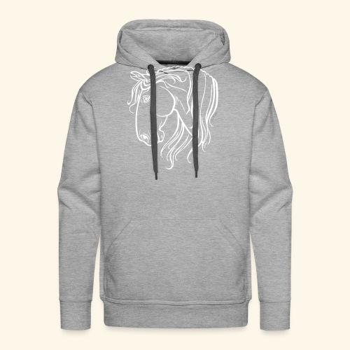Cheval espagnol (blanc) - Sweat-shirt à capuche Premium pour hommes
