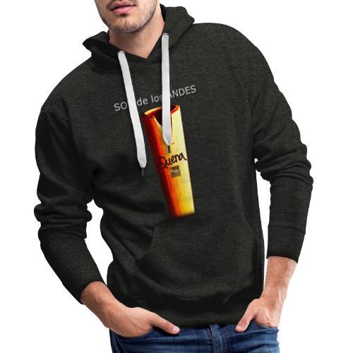 De los ANDES - Quena II - Sudadera con capucha premium para hombre