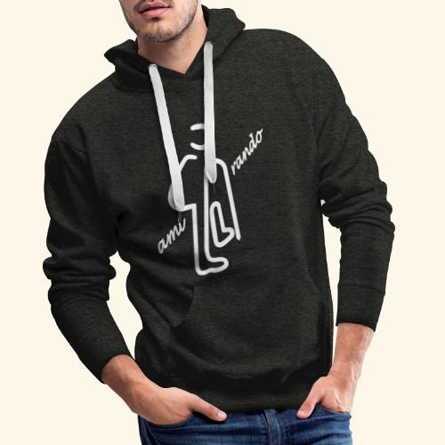 Amirando21 blanc - Sweat-shirt à capuche Premium pour hommes