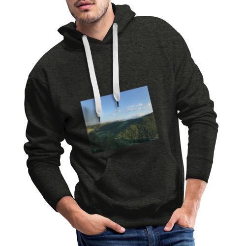 paesaggio - Felpa con cappuccio premium da uomo