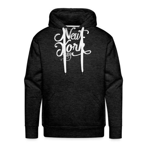 New York City typography - Men's Premium Hoodie