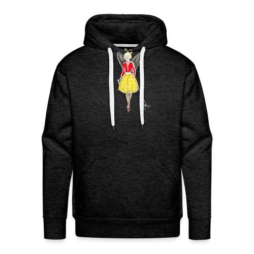 butterfly girl - Sweat-shirt à capuche Premium pour hommes