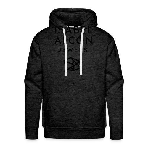 ISABEL ALCÓN JEWELS - BLACK SQUARE LOGO - Sudadera con capucha premium para hombre