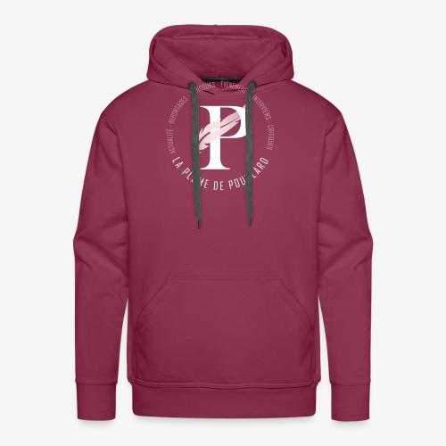 La Plume de Poudlard rond - Sweat-shirt à capuche Premium pour hommes