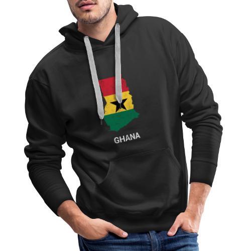 Ghana ( Gaana Gana ) country map & flag - Men's Premium Hoodie
