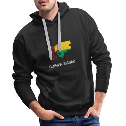 Guinea-Bissau ( Guiné-Bissau ) country map & flag - Men's Premium Hoodie