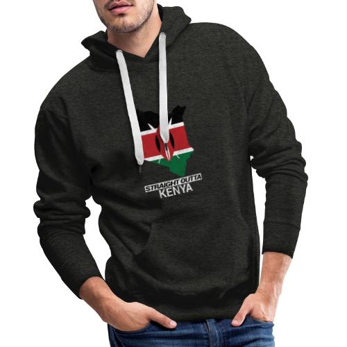 Straight Outta Kenya country map & flag - Men's Premium Hoodie