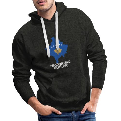 Straight Outta Kosovo country map - Men's Premium Hoodie