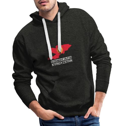 Straight Outta Kyrgyzstan country map - Men's Premium Hoodie