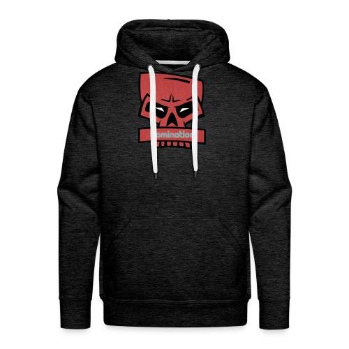 Domination red skull - Premium hettegenser for menn