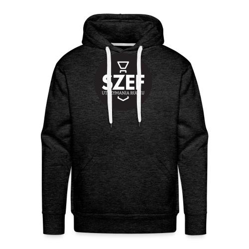 Logo-szef-utrzymania-ruchu_ok_net_black - Bluza męska Premium z kapturem