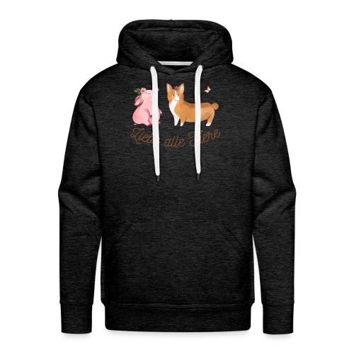 Liebe alle Tiere - Männer Premium Hoodie