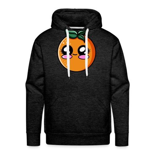 Orange Kawaii - Sweat-shirt à capuche Premium pour hommes