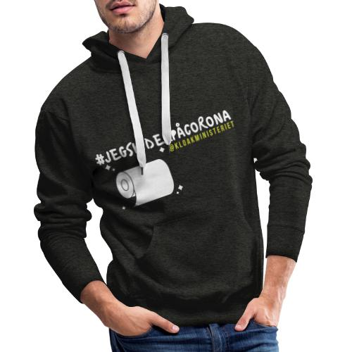 #jegskiderpåcorona 2 - Herre Premium hættetrøje