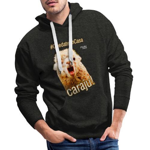 Quedate En Casa Caraju - Sweat-shirt à capuche Premium pour hommes