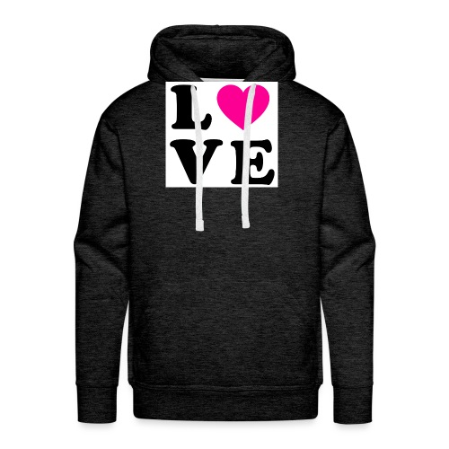 Love t-shirt - Sweat-shirt à capuche Premium pour hommes