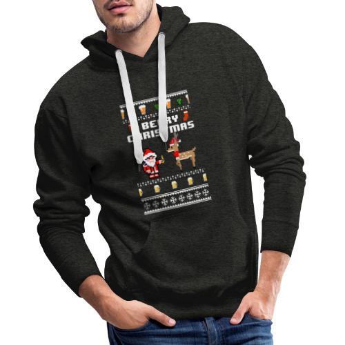 beery christmas - Sweat-shirt à capuche Premium pour hommes