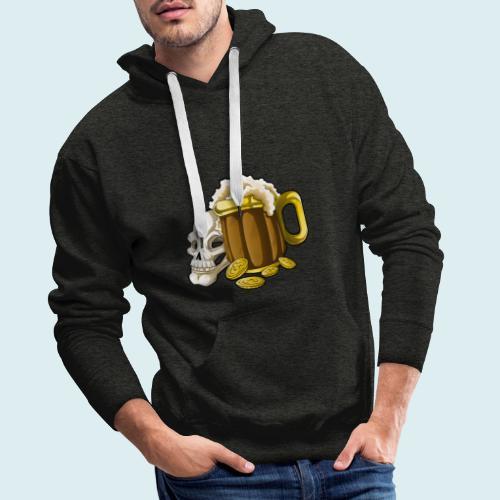 beer - Felpa con cappuccio premium da uomo