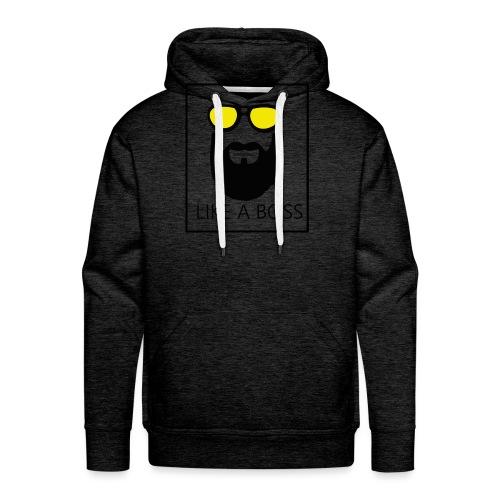 like a boss - Sweat-shirt à capuche Premium pour hommes