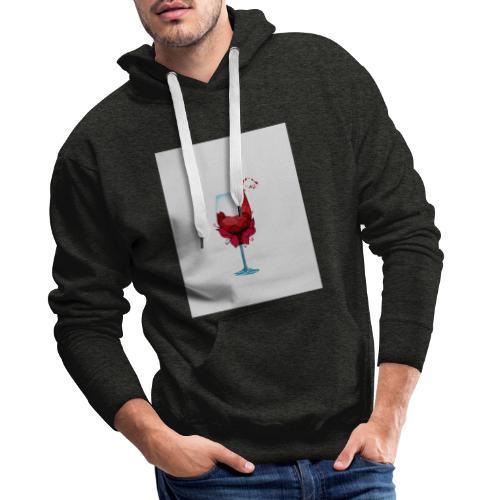 Flower Weinglas - Männer Premium Hoodie