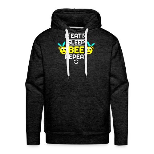 Imker: Eat sleep.BEE repeat - Männer Premium Hoodie