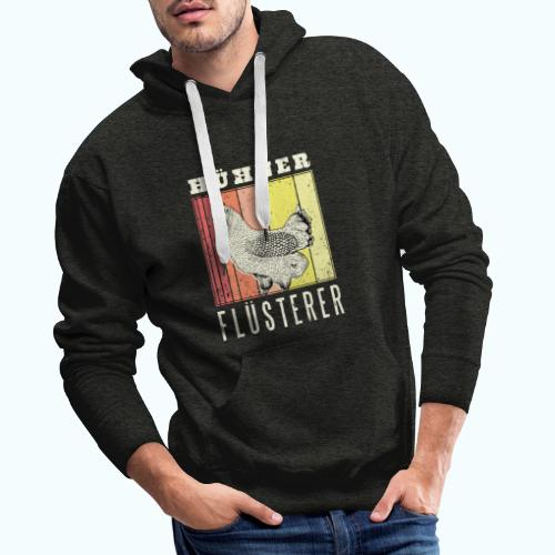 Retro chicken drawing - Men's Premium Hoodie